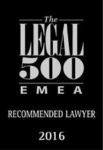 Legal 500 - 2016